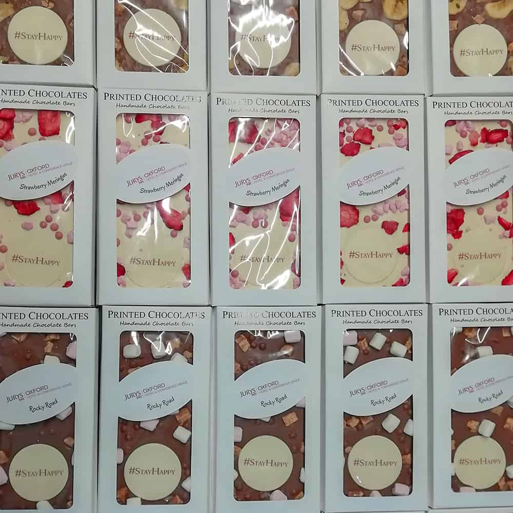 Bespoke flavoured bars with printed messages