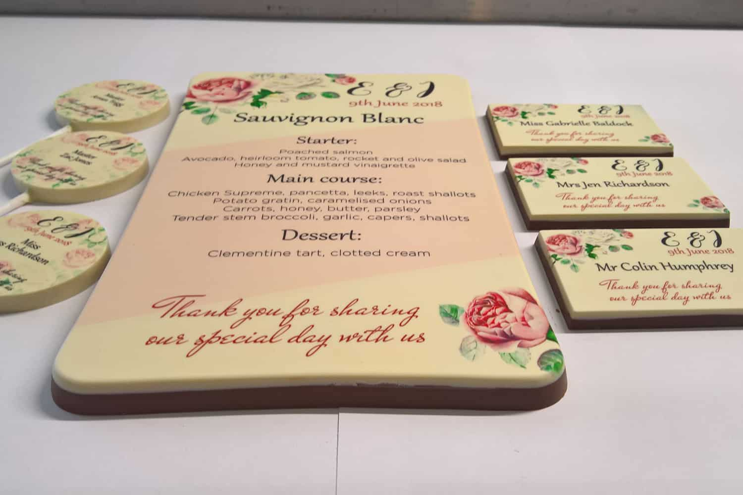 Wedding Printed Chocolates