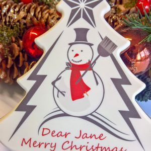 Personalised Snowman Christmas tree
